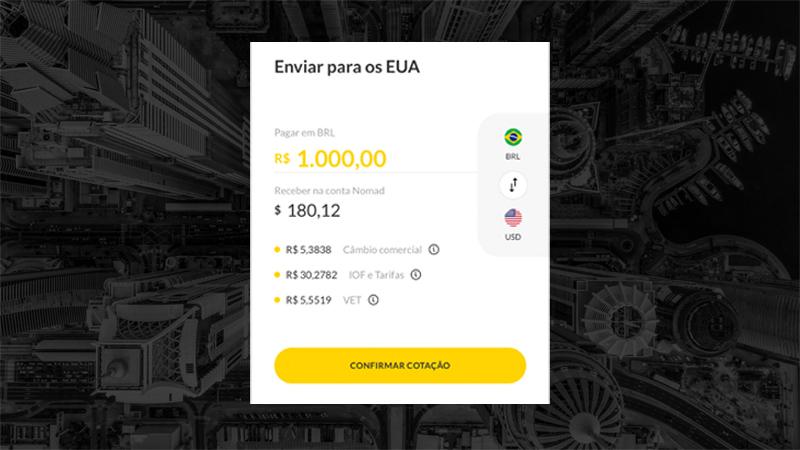 Como enviar dólar para os Estados Unidos do Brasil