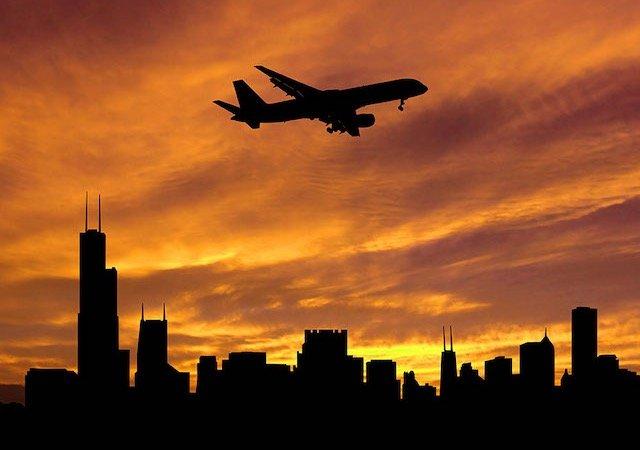 Tempo de avião até Chicago