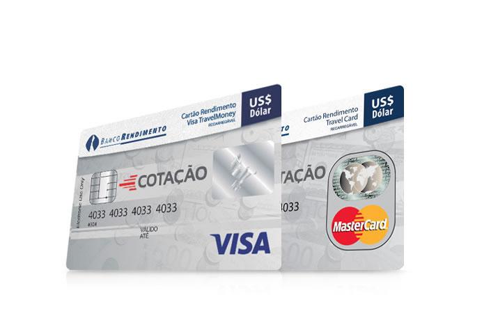 Cartão Pré-Pago Internacional Bandeiras Visa e MasterCard