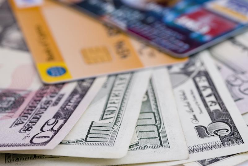 Dinheiro e cartões em Chicago
