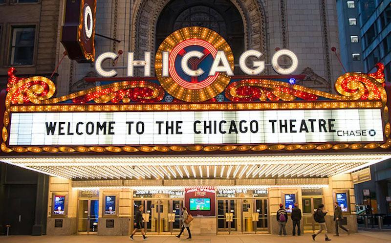 Chicago Theatre: fachada