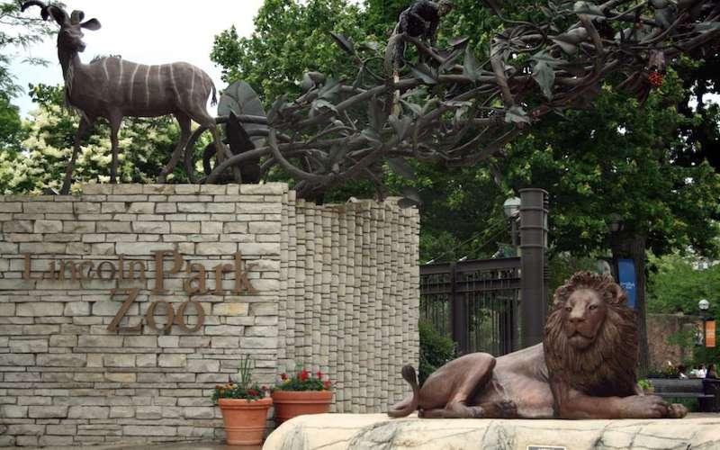 Entrada do Lincoln Park Zoo em Chicago