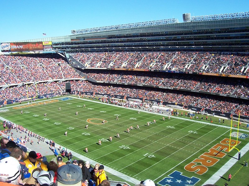 Grant Park em Chicago: estádio Soldier Field