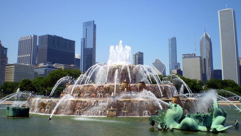 Buckingham Fountain no Grant Park em Chicago