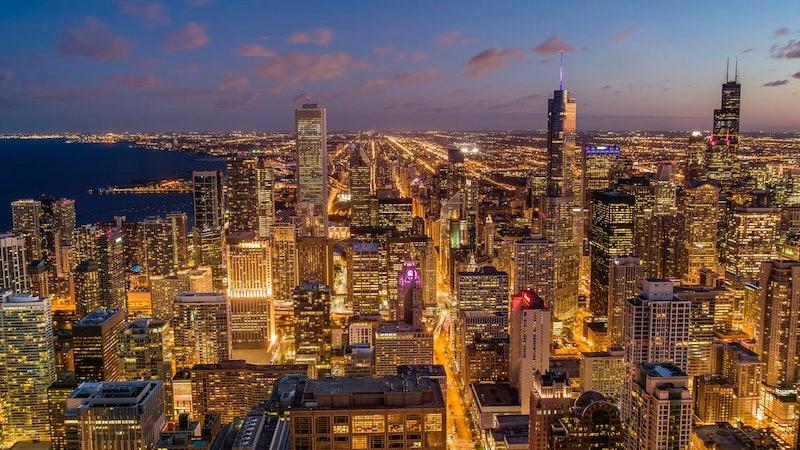 Noite na cidade de Chicago