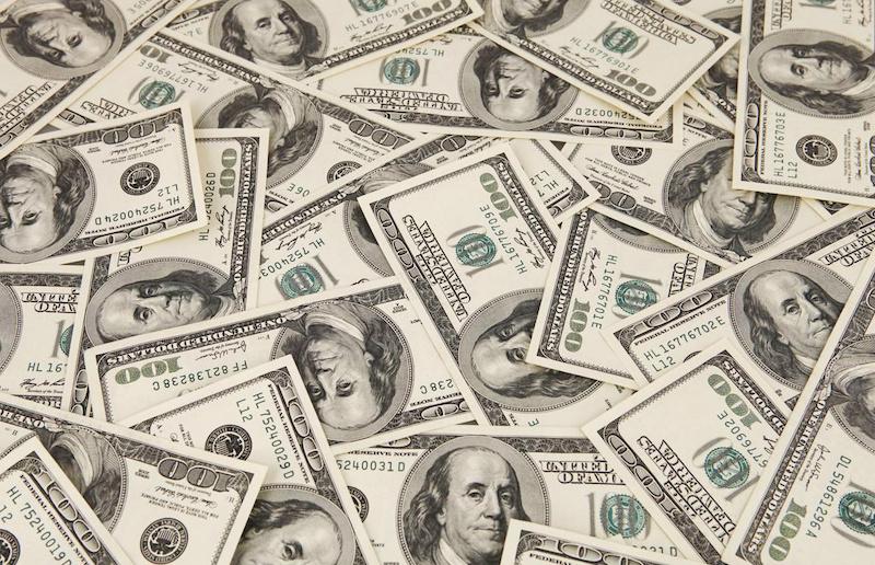 Notas de dólar em Chicago