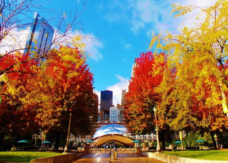 Melhor época para conhecer Chicago: Millennium Park no outono