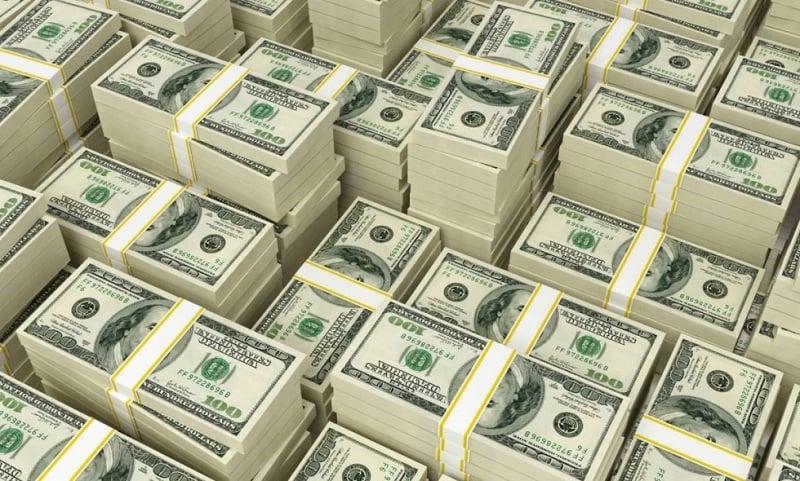 Pilhas de dólares em Chicago