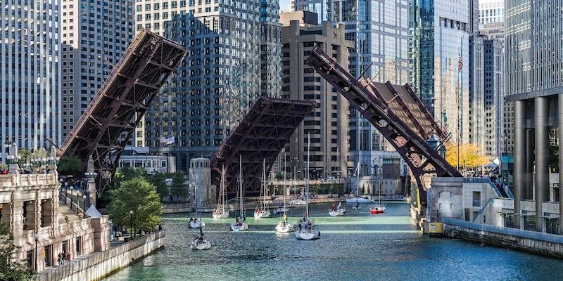 Pontes no Chicago River