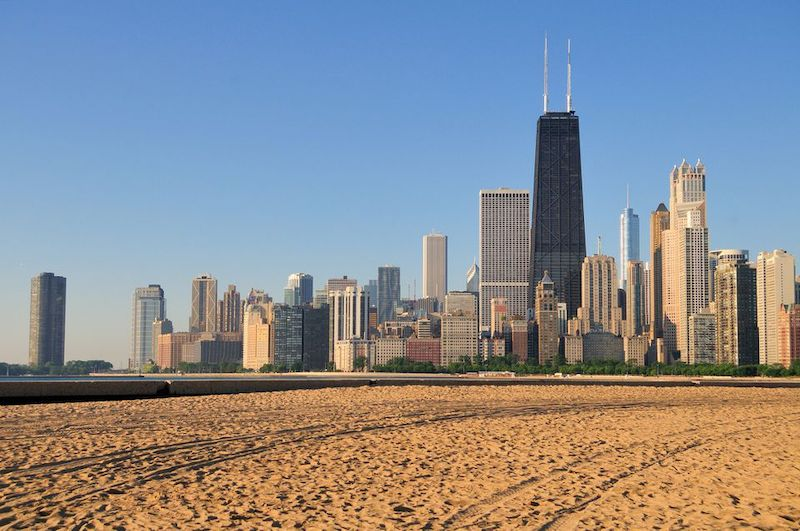 Praia North Avenue Beach em Chicago