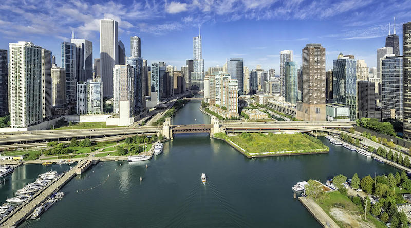 Chicago River: vista do rio