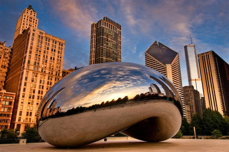 Cloud Gate - The Bean em Chicago