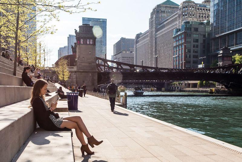 Turista em Chicago