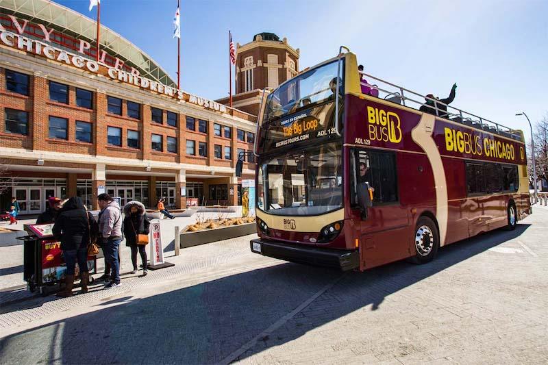 Ônibus turístico Big Bus em Chicago