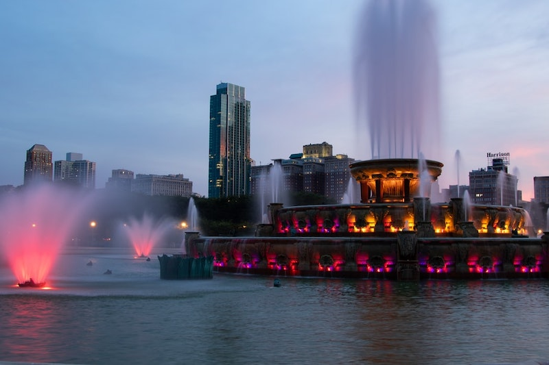 Buckingham Fountain no Grant Park em Chicago