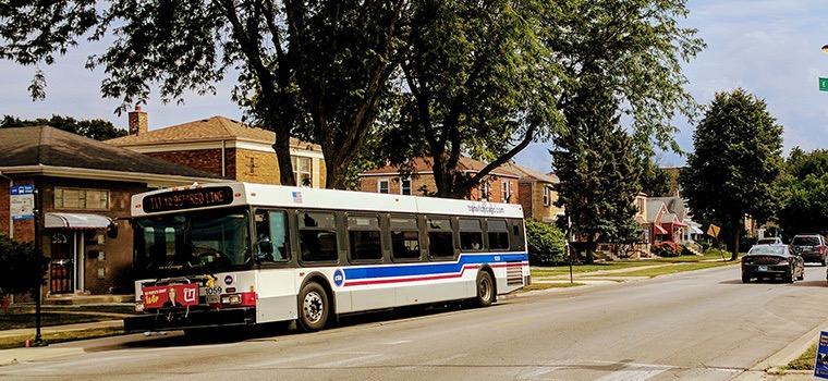 Ônibus da CTA Bus em Chicago