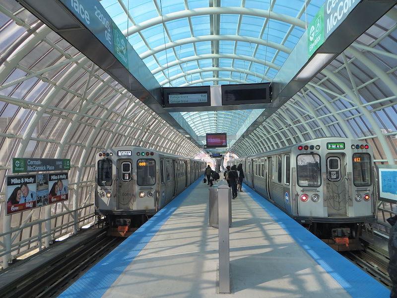 Estação de metrô em Chicago