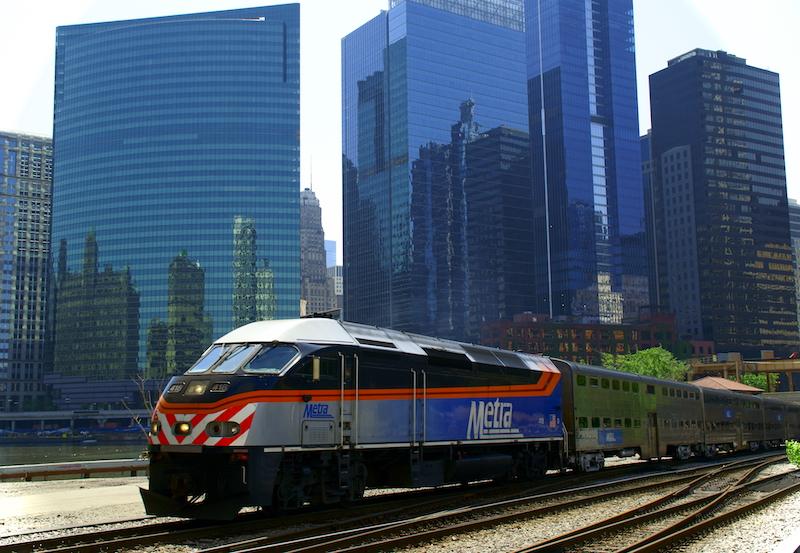 Trem Metra em Chicago