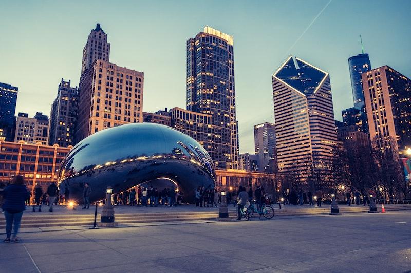 Passeio pela Cloud Gate em Chicago