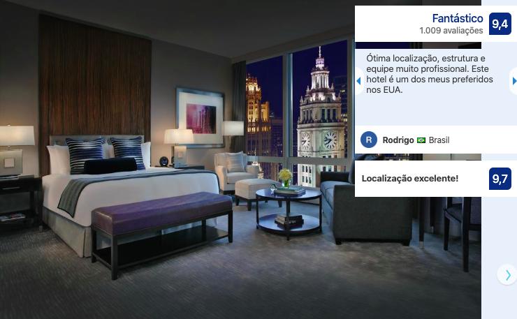 Quarto do hotel Trump International em Chicago