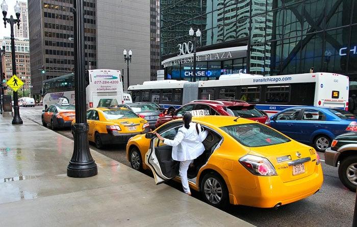 Táxi em Chicago