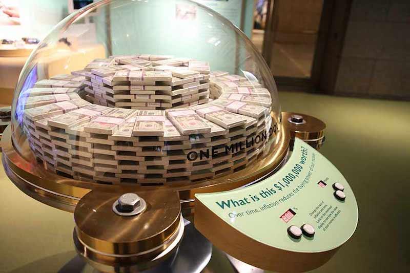 Dólares no Money Museum em Chicago