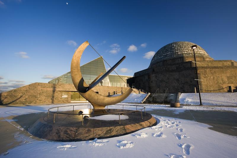 Adler Planetarium no inverno em Chicago