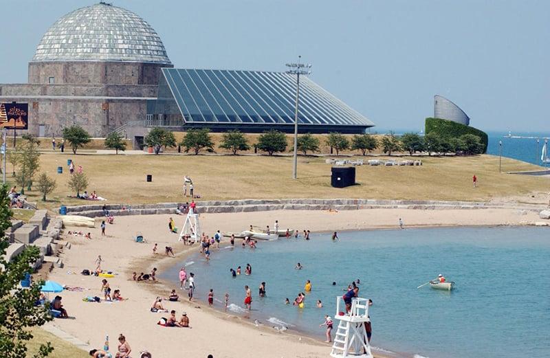 Melhores praias em Chicago: praia 12th Street Beach