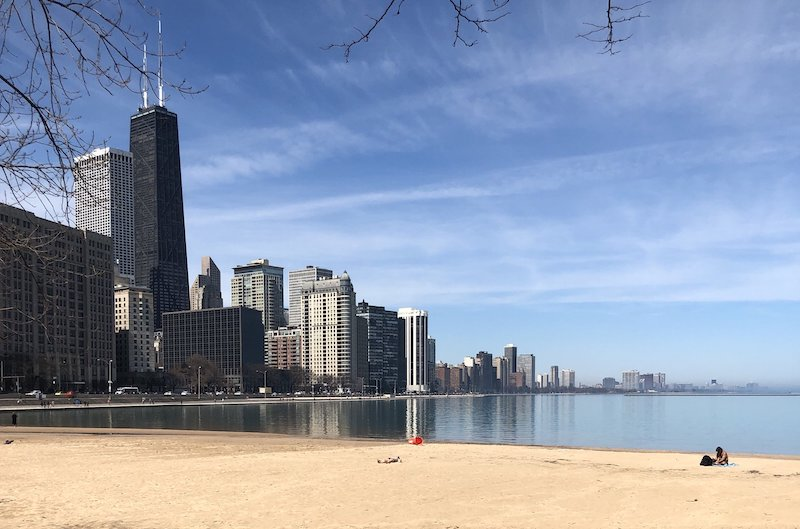 Melhores praias em Chicago: praia Ohio Street Beach