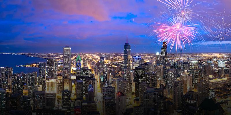 Ano Novo em Chicago: Chicago Loop