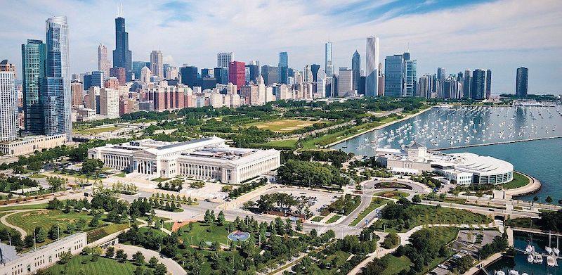 Grant Park em Chicago: área