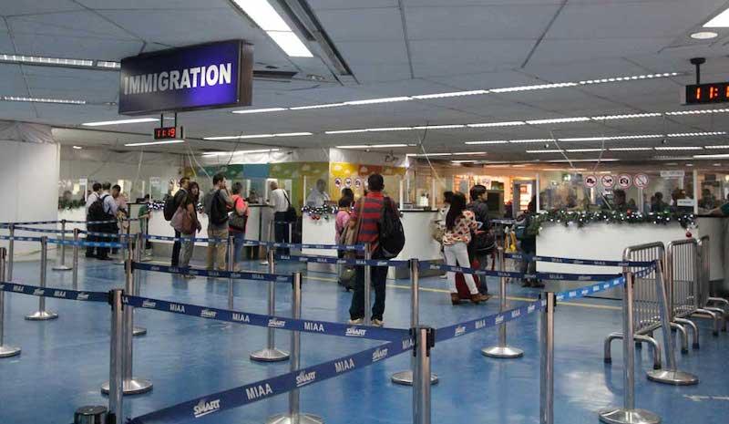 Área de imigração em Chicago e Estados Unidos