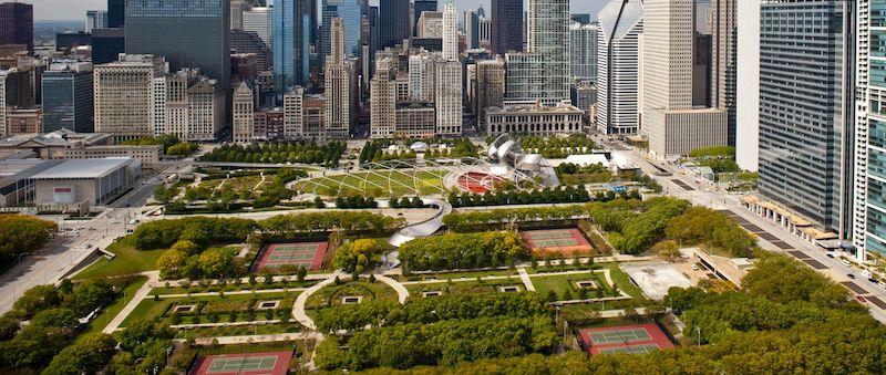 Área do Millennium Park em Chicago
