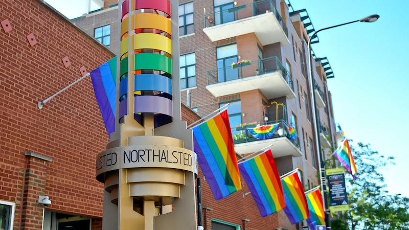 Lugares LGBTI em Chicago: bandeiras LGBTI