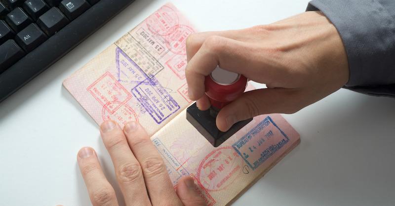 Carimbo no passaporte para Chicago e Estados Unidos