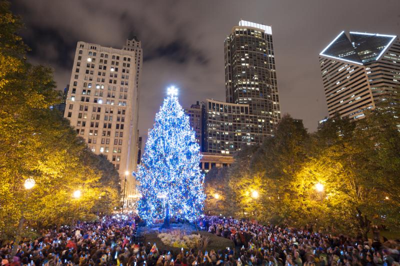 Natal em Chicago: Chicago Christmas Tree