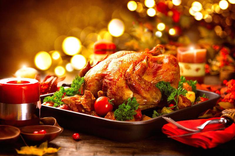 Natal em Chicago: comida de Natal