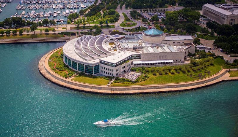 Edifício do Shedd Aquarium em Chicago