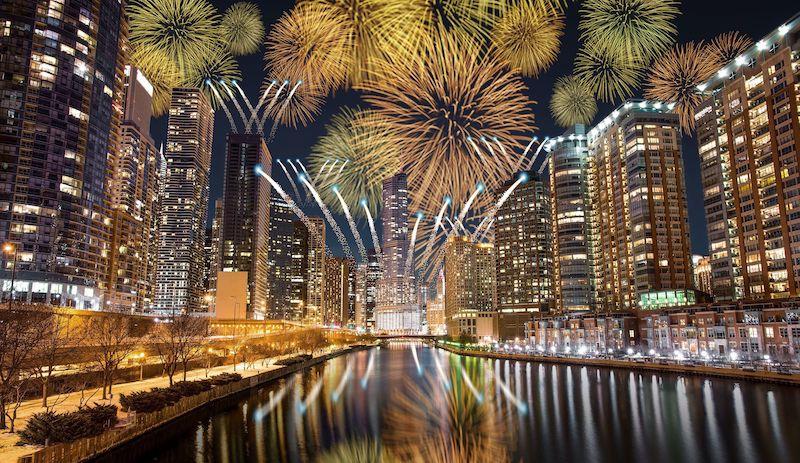 Ano Novo em Chicago