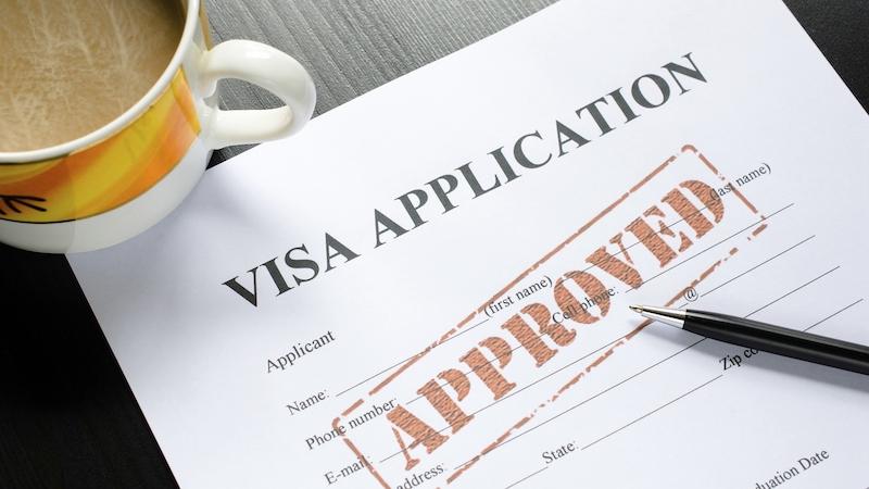 Formulário de visto de entrada para Chicago e Estados Unidos