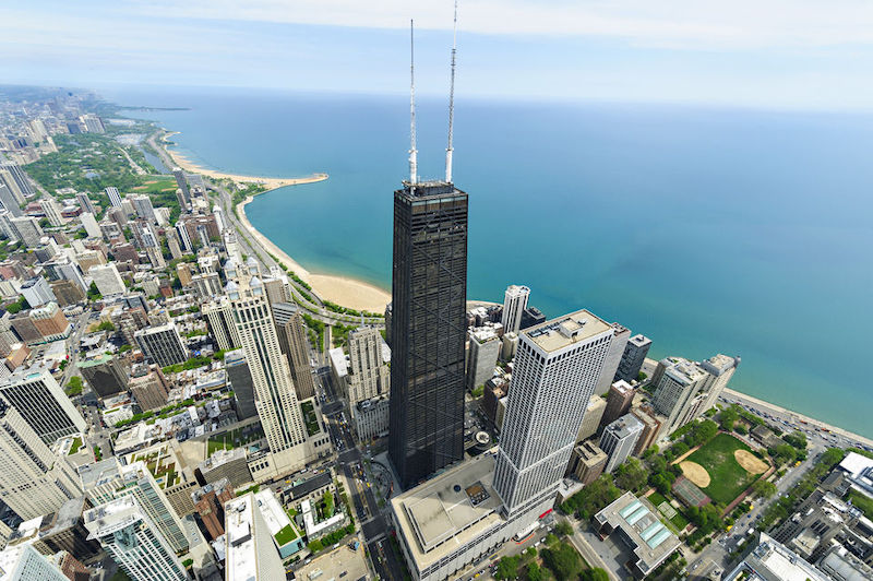 Vista do John Hancock Center em Chicago