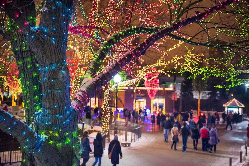 Natal em Chicago: luzes natalinas