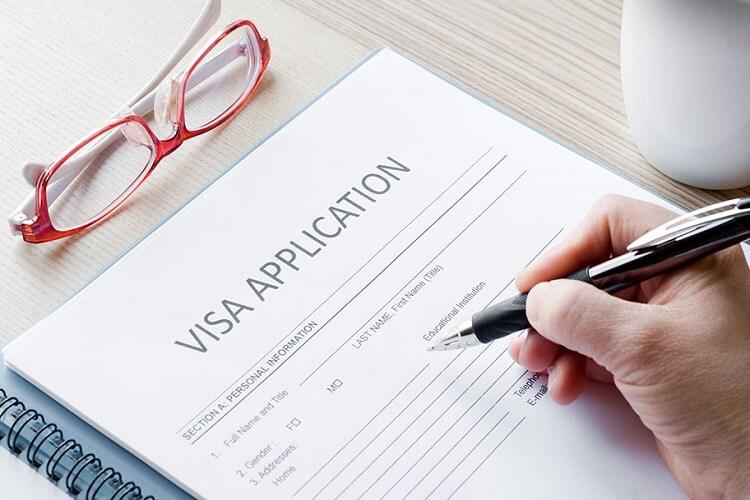 Preenchendo o formulário de visto para Chicago e Estados Unidos