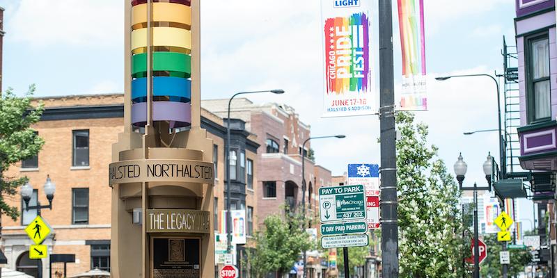 Lugares LGBTI em Chicago: The Legacy Walk em Boystown