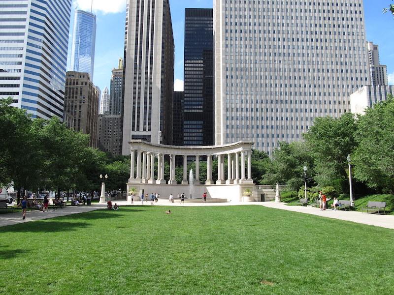 Millennium Park em Chicago: Wrigley Square