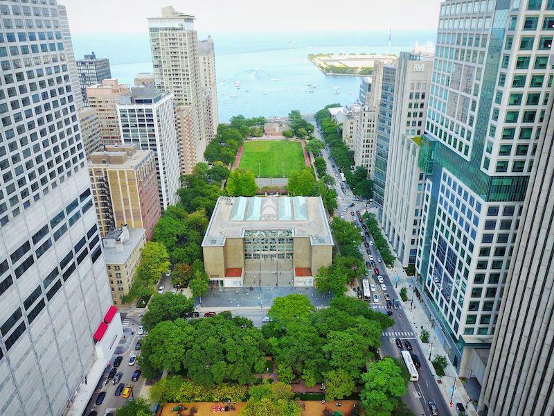 Museum of Contemporary Art em Chicago: área do museu