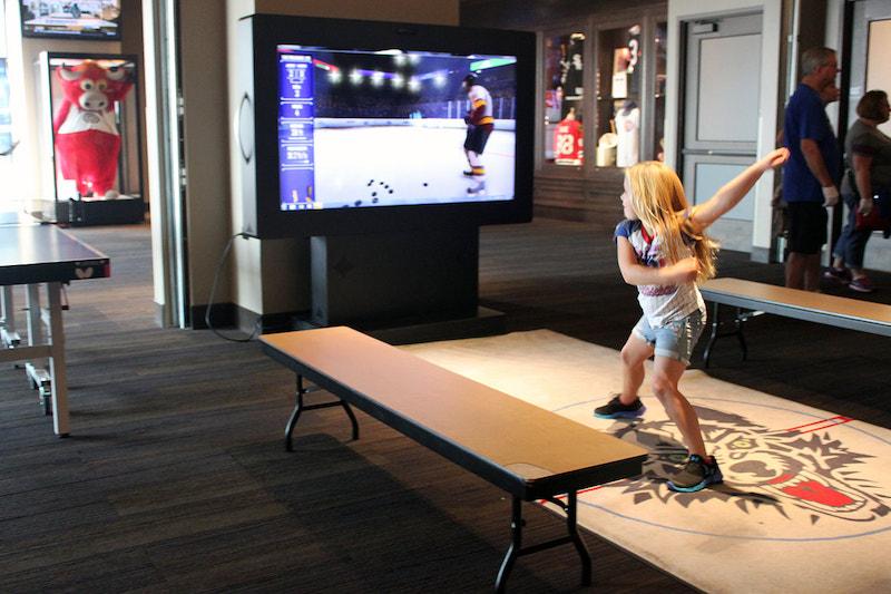Criança no Chicago Sports Museum