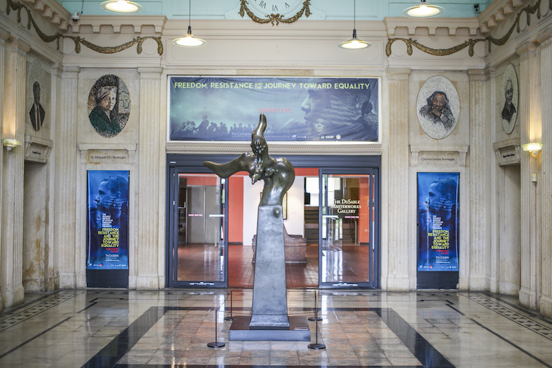 Entrada do DuSable Museum of African American History em Chicago