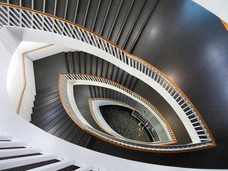 Museum of Contemporary Art em Chicago: escada do museu