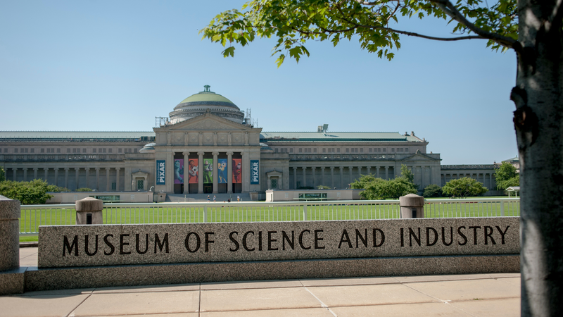 Museum of Science and Industry em Chicago: fachada do museu